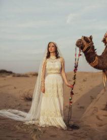 Nicole & Jordan's Intimate India Desert Wedding