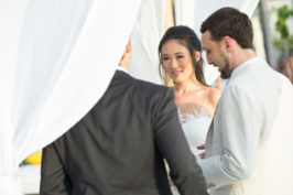 Yinan & Jose All-White Beachfront Wedding