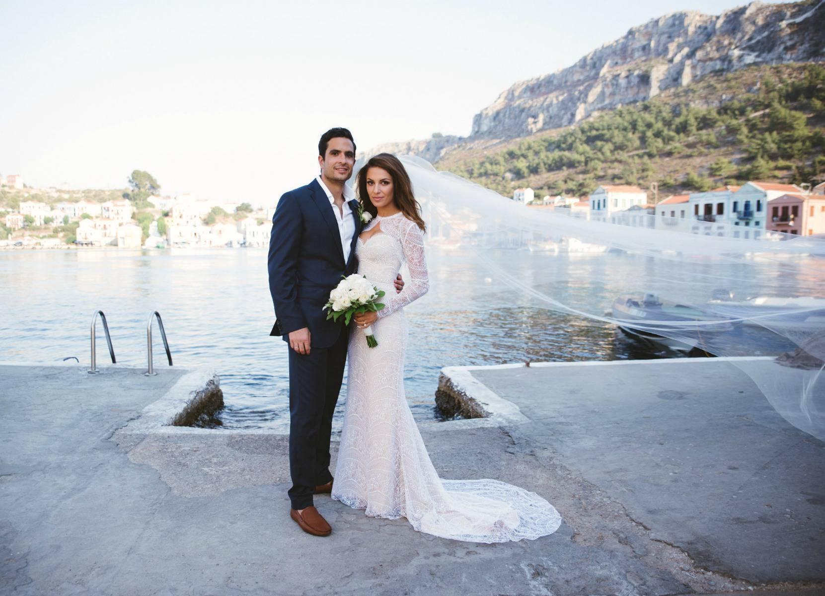 Demosthenes & Elle Kastellorizo Picturesque Nifties Bay Greece Wedding