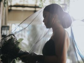 Bride Maja Salvador Wore Black wedding dress1