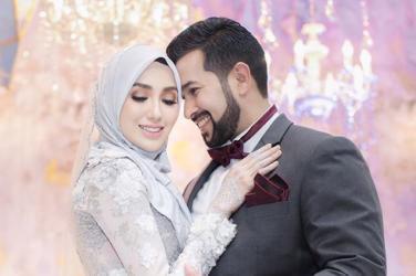 wedding, malaysia, celebrity - Hanis Arif & Irshad Razali wed in Beautiful Pastel Wedding