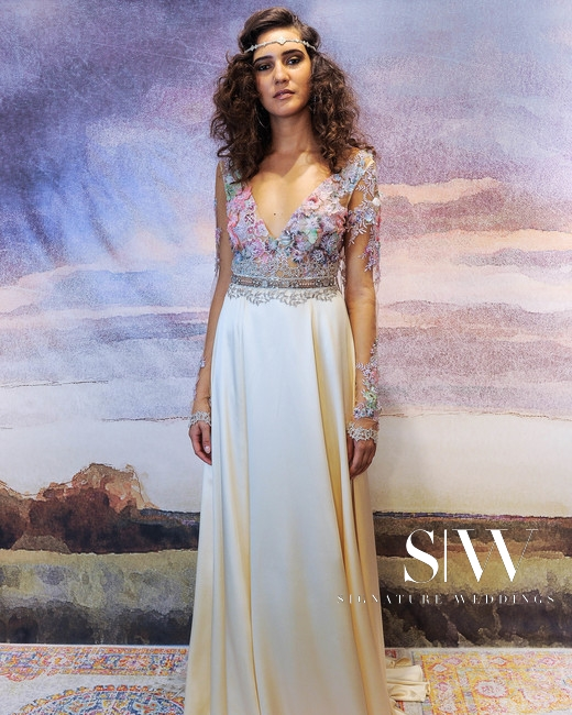 CLAIRE PETTIBONE Fall 2018 Bridal Collection—New York Fashion Week