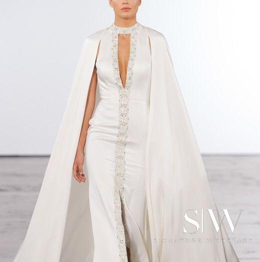 wedding-dresses, style-fashion, lookbook - DENNIS BASSO for KLEINFELD Fall 2018 Bridal Collection—New York Fashion Week