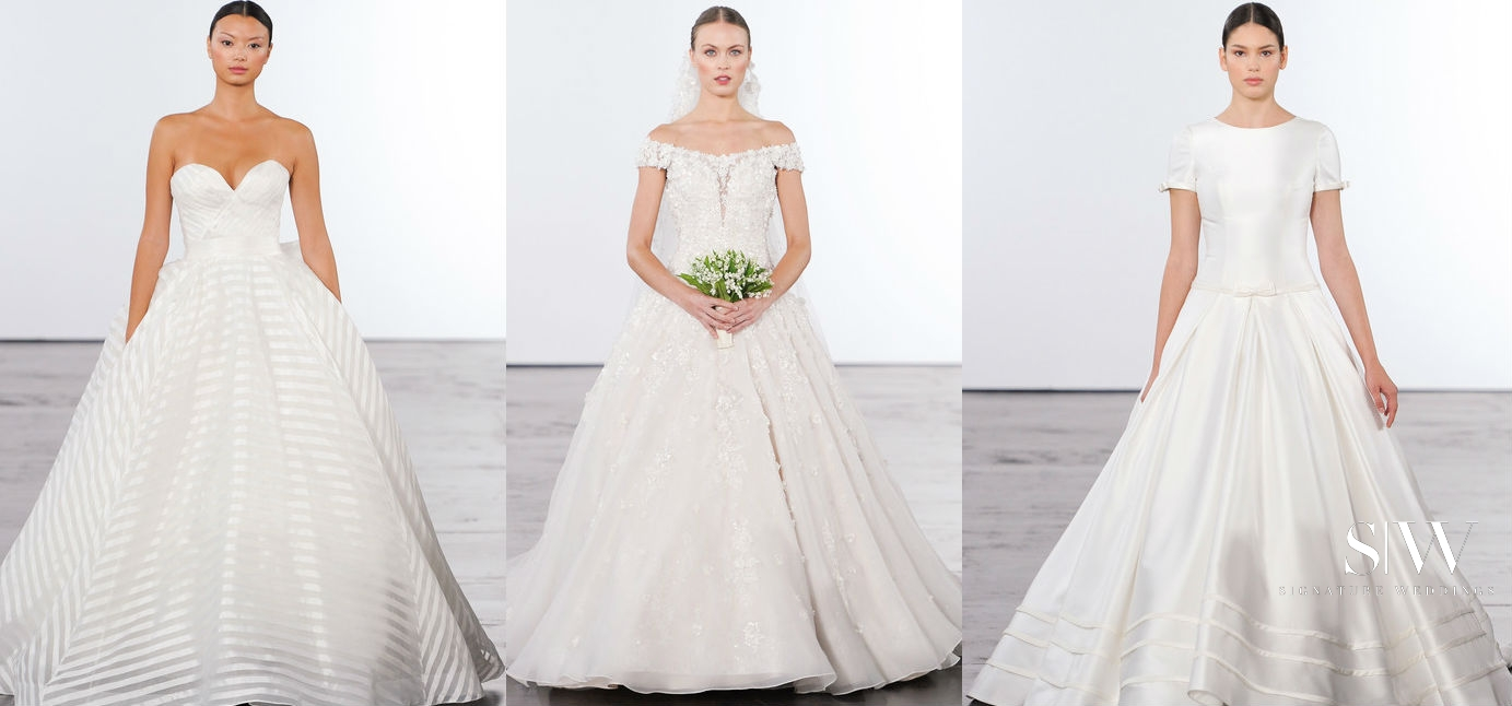 ddf8876a53d DENNIS BASSO for KLEINFELD Fall 2018 Bridal Collection—New York Fashion Week