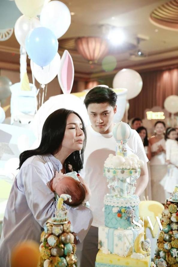 Singapore Billionaire's Daughter Kim Lim Hosts Lavish Party for Son's 99th Day