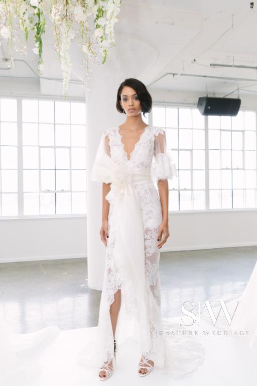 MARCHESA Fall/Winter 2018 Bridal Collection—New York Fashion Week