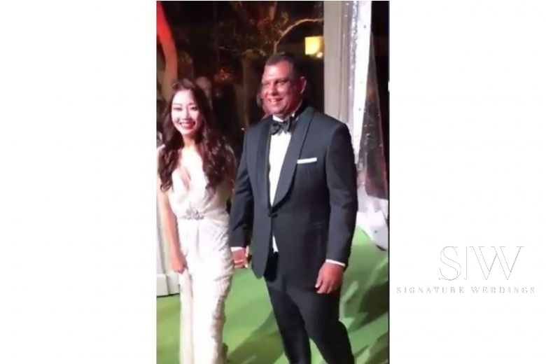 tony fernandes and wife chloe wedding video leak