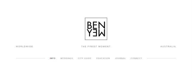 Ben Yew website capture