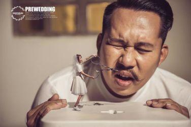 wedding-photography, thailand, global-wedding, featured, be-inspired - Thailand wedding photographer captures couple in microscopic size