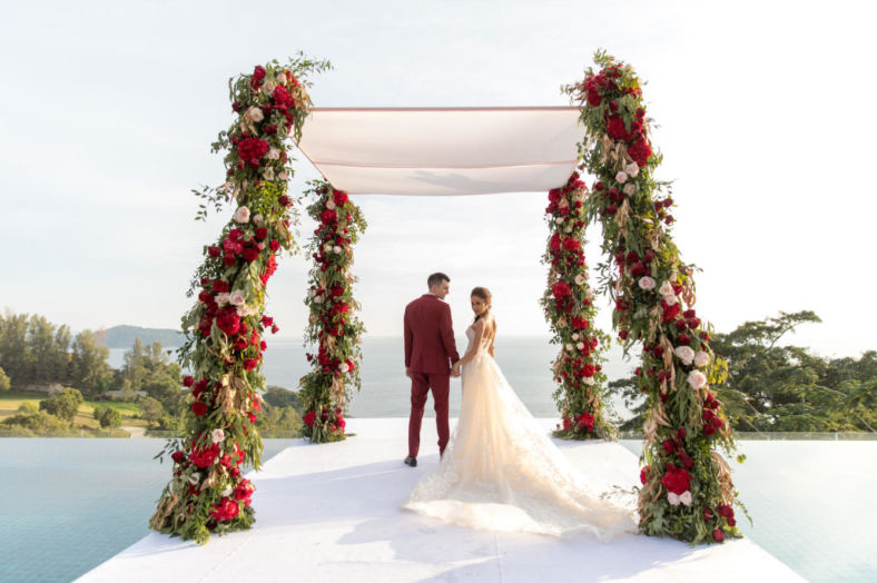 thailand, phuket, destination-weddings - Apple and Asa striking red destination wedding in Phuket