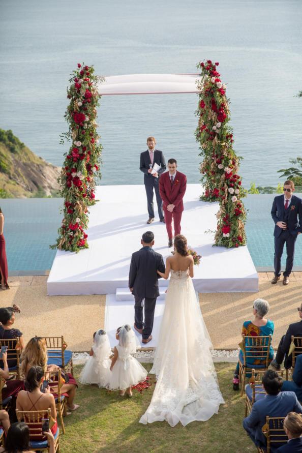 thailand, phuket, destination-weddings - Apple and Asa striking red destination wedding in Phuket