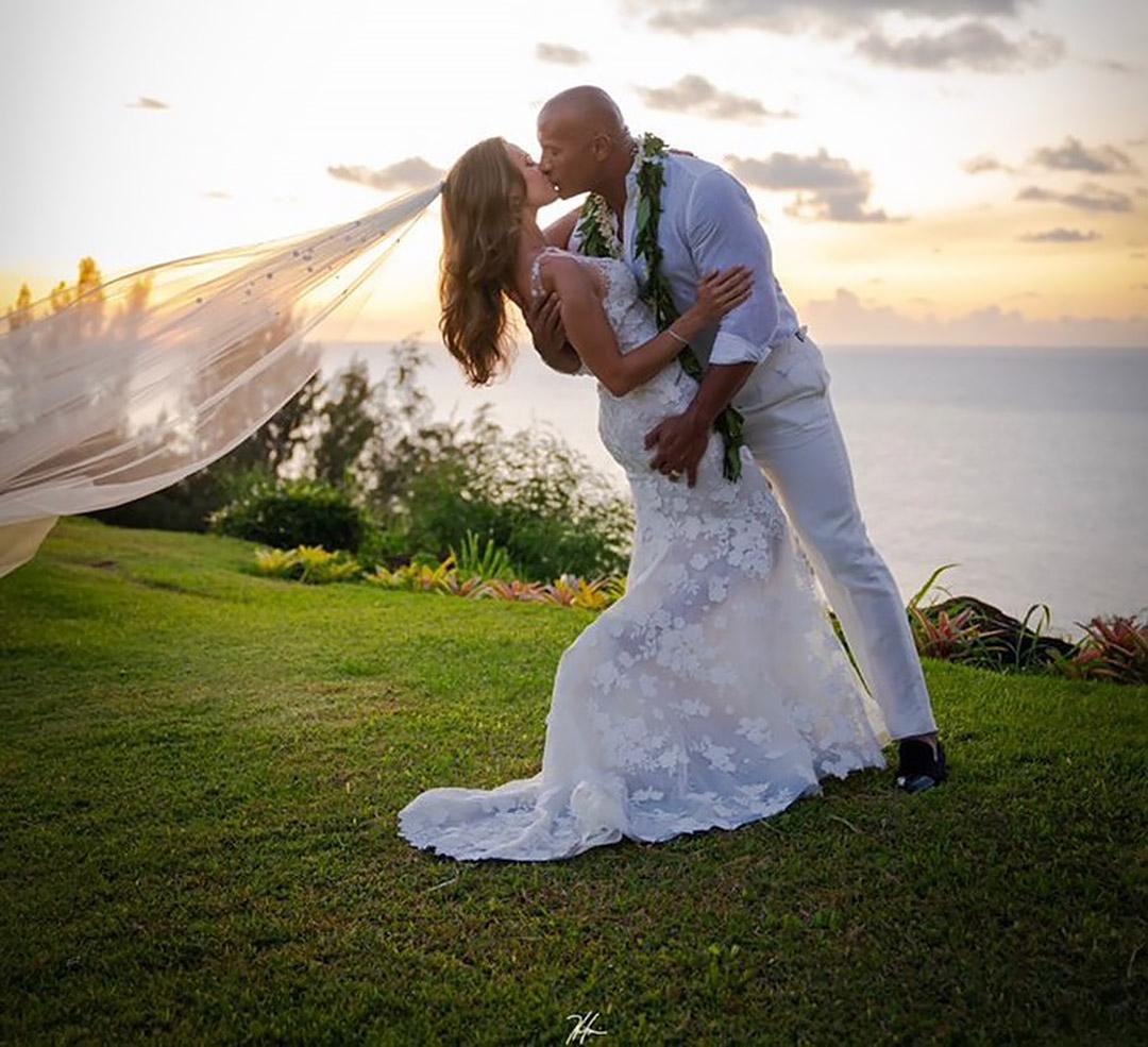 wedding, celebrity - Dwayne, 'The Rock', Johnson Married Lauren Hashian in a 'Phenomenal' Private Ceremony in Hawaii